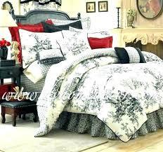 toile quilt set black