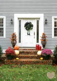 fall front door decorationsFestive Fall Front Door Idea  This Mama Loves