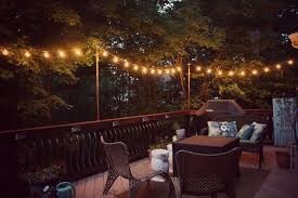 evening lighting on the deck