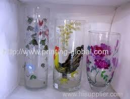 thermal transfer for glass vase