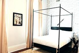 King Size Metal Canopy Bed Frame Canopy Bed Frame King Black Iron ...