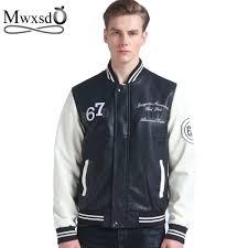senarai harga mwxs brand baseball leather jacket college jaqueta couro men s pu leather jacket street jacket high quality autumn winter coat terkini di
