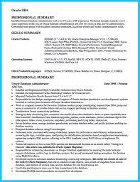 Oracle Dba Cv Sql Server Dba Resume Sample Sample Resume