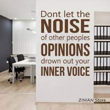 wall stickers for office. Inner Voice Wall Sticker Inspirational Quote Decal Office Room Decoration Removable Art Diy Stickers Home Decor Mural Z058-in From For