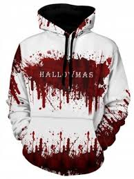 <b>Halloween</b> Bleeding <b>Pattern</b> Ink Painting Hoodie | Painting hoodie ...
