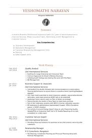 Resume Template For High School Students Quality Analyst