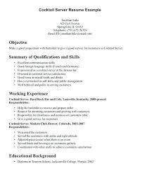 Resume For Server Impressive Resume Objective Server R Quickplumberus