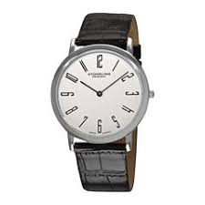men s watches for jewelry watches jcpenney stührling® original mens white dial alligator look black leather strap watch