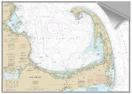 Cape Cod Chart Peel And Stick Nautical Chart Of Cape Cod Bay Ma