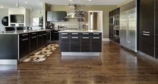 Uncategorized  Brown And White Kitchen Elegant Wood Floors In - Wood floor in kitchen