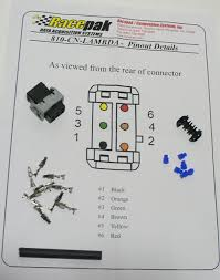 racepak o2 air fuel harness end repair kit