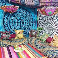 images boho living hippie boho room. Boho, Hippie, Gypsy, Elephant Tapestry, Mandala Mandala,  Ethnic, Living Room Decor, Parasols, Indian Ottoman, Goals, Hippie Images Boho