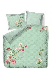 um image for duvet cover pip poppy green supima cotton bedding set debenhams bed sheets