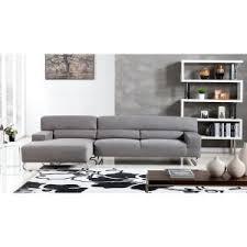 microfiber sectional sofa.  Sofa American Eagle Furniture Clark Gray Microfiber Sectional Sofa With