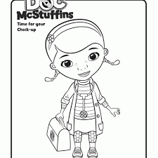 Awesome Doc Mcstuffins Coloring Pages Coloringsuite Free Coloring Book
