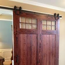 8ft black antique horseshoe single wood sliding barn door hardware interior track