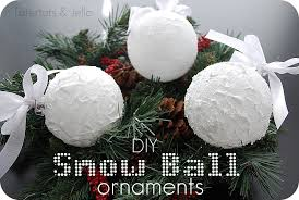 Decorating Christmas Ornaments Balls Snow Ball Ornaments Homemade Christmas Decor Scrap Shoppe DMA 28