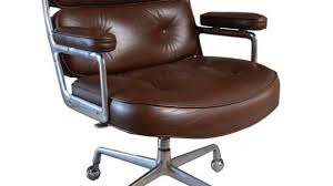 vintage office chair. Fine Vintage Vintage Leather Eames Time Life Chair For Sale At 1stdibs Inside  Office Decorating  Throughout