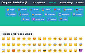 emoji text 5 sites to copy paste emojis text faces emoticons more
