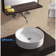 glass vessel sinks for bathrooms. Bathroom:Bathroom Vessel Sinks Outstanding Round European Design White Black Porcelain Ceramic Countertop Vanity With Glass For Bathrooms E