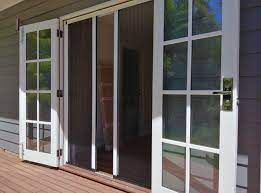 french doors retractable fly screens