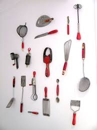 vintage kitchen tools. i have completed my kitchenalia wall [collection of red vintage cooking utensils] kitchen tools a
