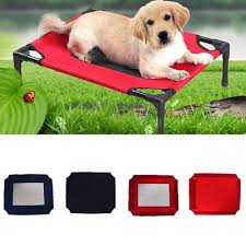 medium indoor outdoor dog bed elevated pet cot replacement cover padded napper