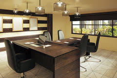 loft office furniture. Modern Brown Style Office With Furniture And Street View Stock Photo Loft F