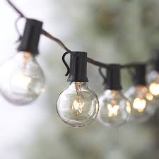 fairy lights string lights with 25 g40 bulbs outdoor bistro market cafe garden party