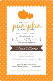 Pumpkin Invitations Template Pumpkin Baby Shower Invitations Cafe322 Com
