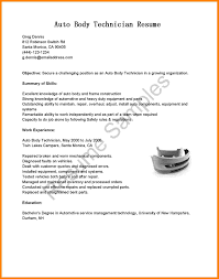 Collection Of Solutions 10 Paint Shop Resume Sample For Body Repair