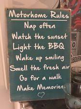 caravan motorhome rules travel holiday novelty gift wooden hanging blue sign