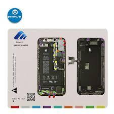 Iphone Screw Chart Magnetic Screw Keeper Chart Mat Phone Repair Guide Pad For