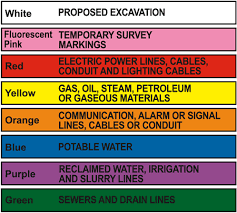Apwa Uniform Color Code Chart Color Codes For Missouri One Call System 1 800 Dig Rite