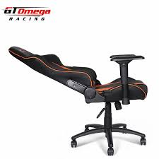 stylish office chairs. GT Omega PRO Racing Office Chair Black Next Orange Leather Stylish Chairs