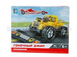 <b>Конструктор 1 Toy</b> Формула <b>1Toy</b> Гоночный джип (90 деталей ...