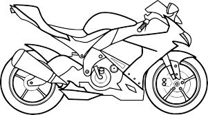 Coloriage Moto Dessincoloriage