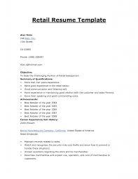 Agreeable Sample Resume Retail Skills List On Objective Sales
