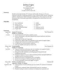 Satellite Tv Technician Installer Resume Examples Free To Try