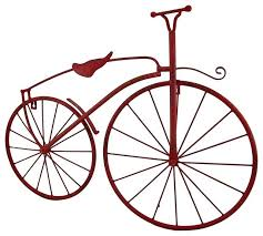 red metal vintage finish high wheel bicycle wall hanging downhill mountain bike wall art red metal on downhill mountain bike wall art with red metal vintage finish high wheel bicycle wall hanging downhill