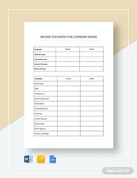 monthly profit and loss statement template free download monthly pl statement template monthly pl statement template