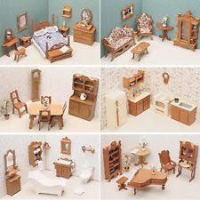 Greenleaf Dollhouse Furniture 5 Room Kits Dining Bed Kitchen Bath