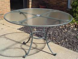 perfect glass outdoor table top replacement round glass top patio table with umbrella hole icamblog
