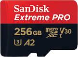 SanDisk Extreme Pro Micro SDXC UHS-I U3 A2 V30 Memory Card (256GB) SDSQXCZ-256G-GN6MA