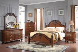 New Classic Bedroom Furniture New Classic Furniture Jaquelyn Bedroom Set In Heritage Cherry