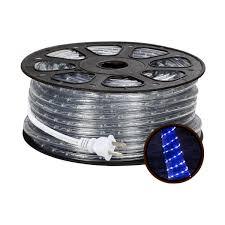 120v Led Rope Light 150ft 110 120v Ac Led Rope Lights Kit Blue Waterproof Ip65