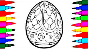 Learn Colors By Coloring Giant Halloween Egg Surprise Coloring Easter Coloring Book L