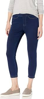 No nonsense Women's <b>Classic Denim</b> Capri Leggings With Pockets ...