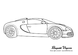 Cars Coloring Page Bugatti Veyron2 Png
