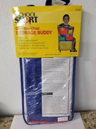 Chair Storage Pocket Chart School Smart Over The Chair Book Storage Pocket 14 3 4 X 23 1 2 Inches T9